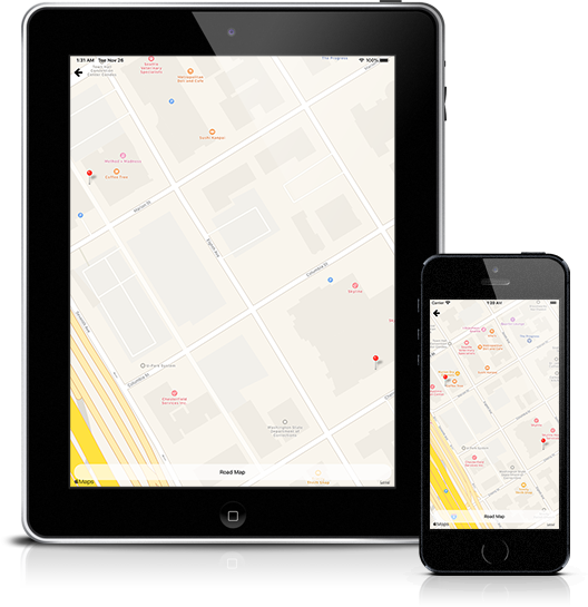 Mockup pyRealtor Mobile Application FSBO Map View
