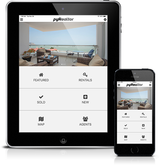 Mockup pyRealtor Mobile Application Home