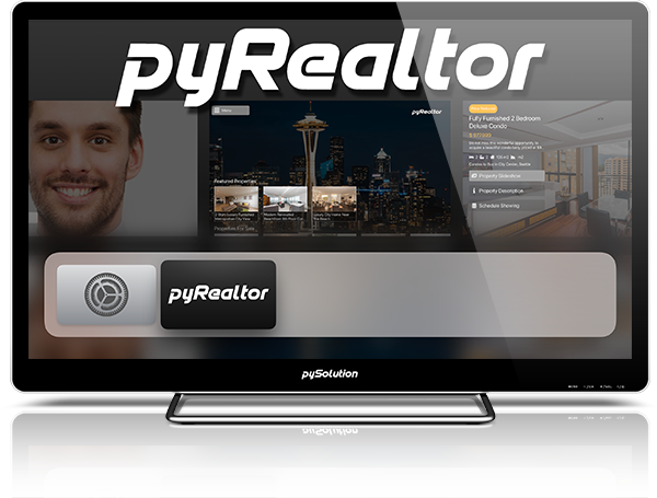 Mockup pyRealtor TV App Load Screen