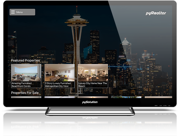 Mockup pyRealtor TV Main Screen