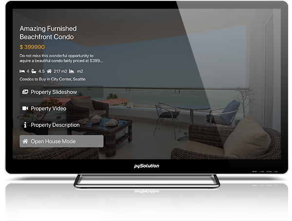 Mockup pyRealtor TV Application Find An Agent