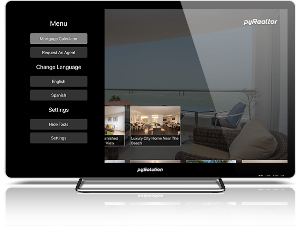 Mockup pyRealtor TV Settings